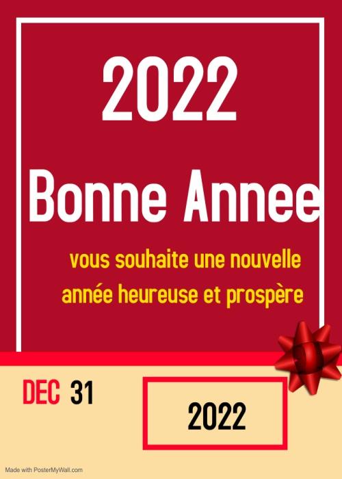 Image Voeux Image bonne année 2022