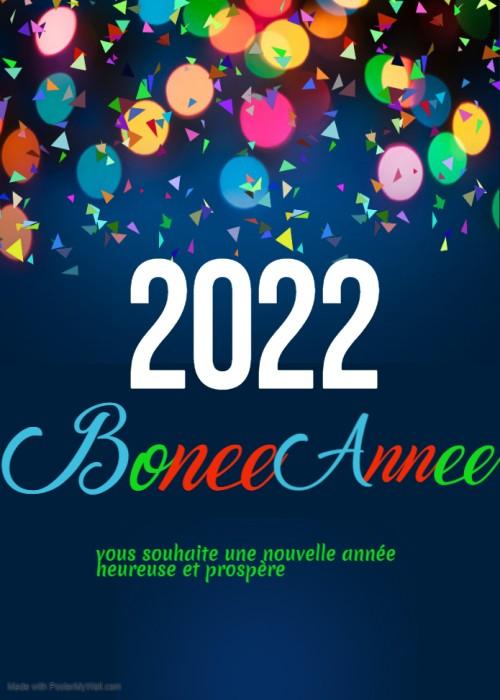 Bonne annee Image 2022 Voeux