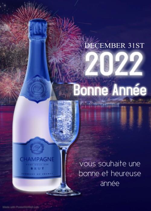 Nouvel an 2022 Bonne annee