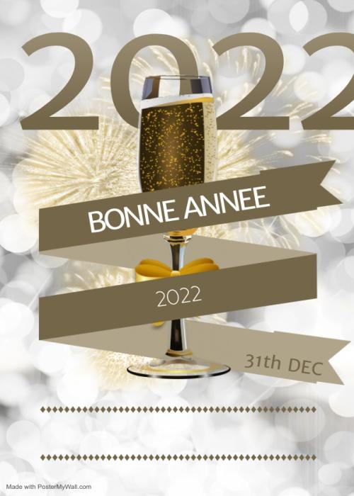Voeux de Nouvel an 2022 bonne annee