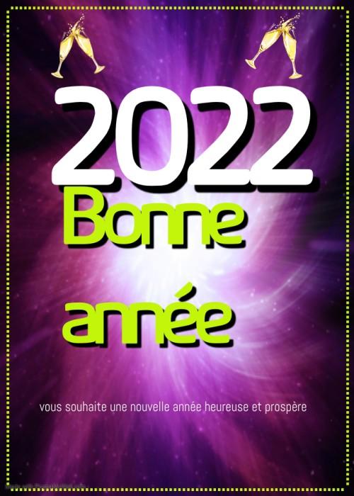 bonne année 2022 Voeux De carte