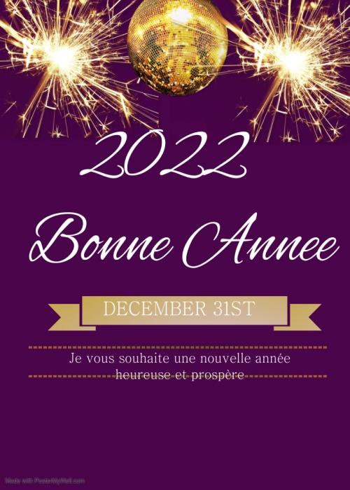 bonne année 2022 Voeux