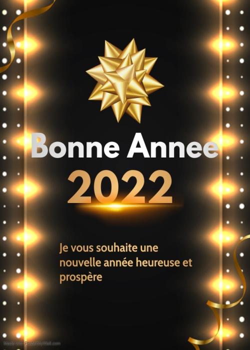 Image Bonne annee 2022 Voeux de carte