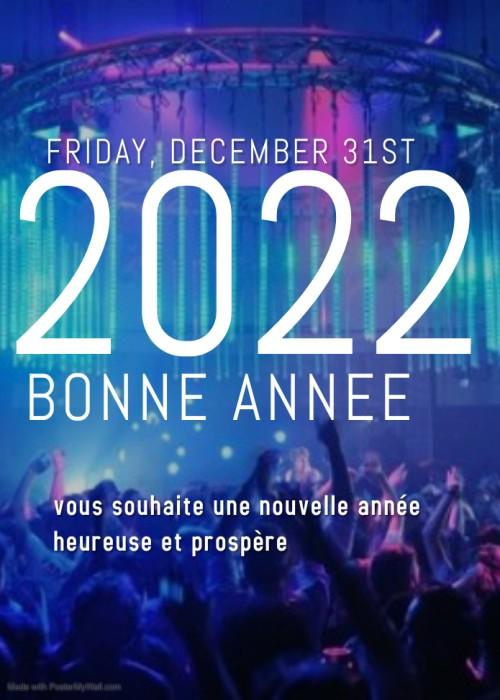 2022 Bonne annee Carte de Voeux 2022