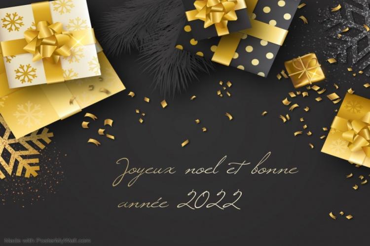 joyeux noël et bonne année 2022
