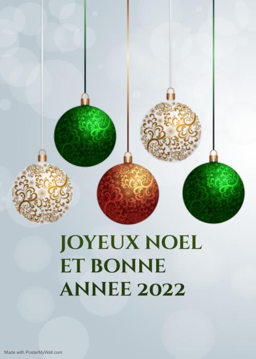 joyeux noel bonne année 2022 Video GIF Image