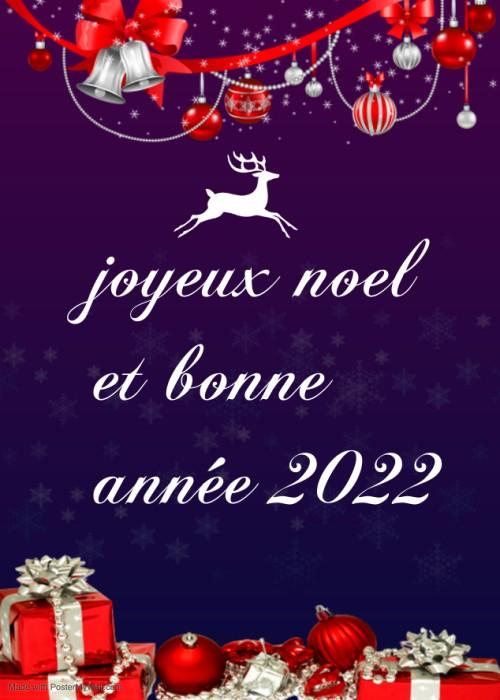 2021 Image joyeux noël et bonne année 2022